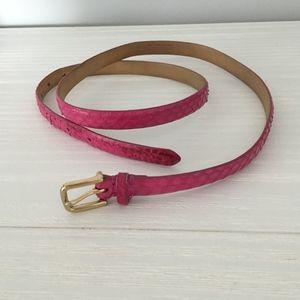 J Crew Pink Snakeskin belt